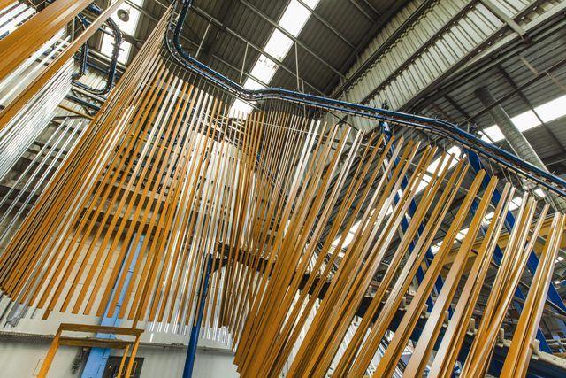 Europa Profil's modern wood surface decorative paint unit.