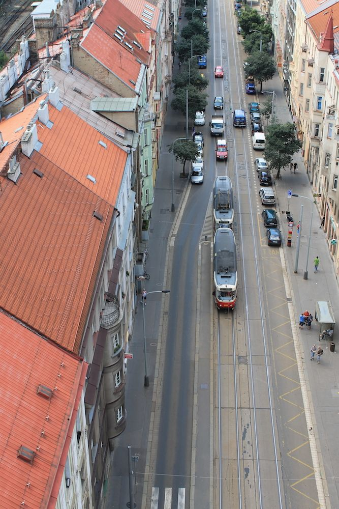Widok z mostu samobójców w Pradze