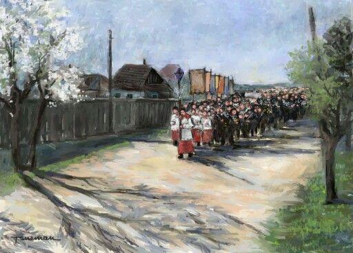 Flower procession