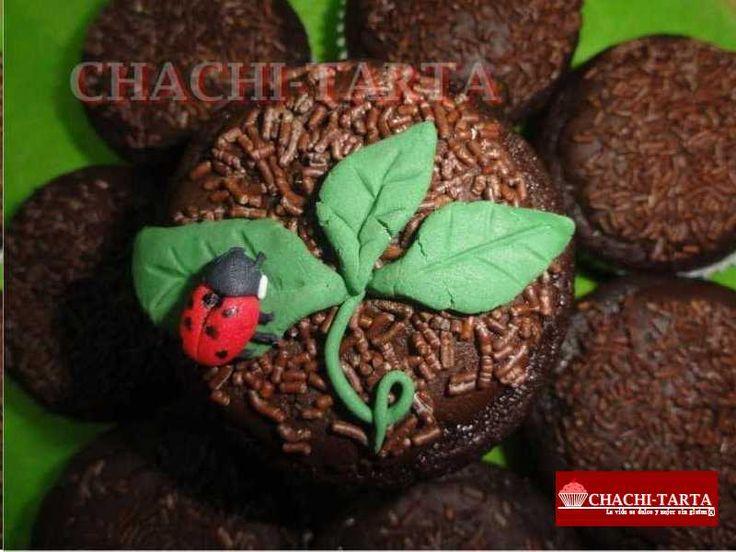 """Cupcakes choco-menta """"día de la tierra"""" (sin gluten)"""