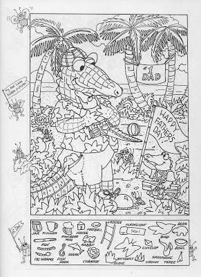 Father's Day: Hidden Picture Puzzle/Coloring Page