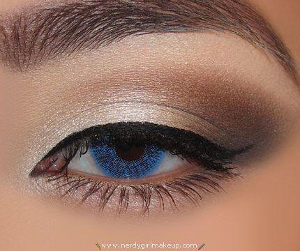 GrayBrownAndWhiteLookWedding Make Up, Pretty Eye, Eyeliner, Eye Makeup, Cat Eye, Eye Colors, Nature Colors, Eyemakeup, Eye Liner