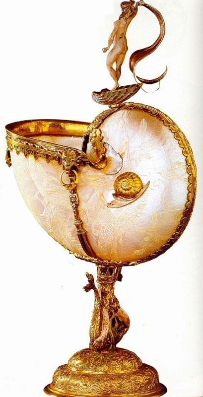 "Jewellery period ""the Renaissance"". End of the 16 century   Silver, shell; gilding   Kunsthistorisches Museum   Vienna   Germany"
