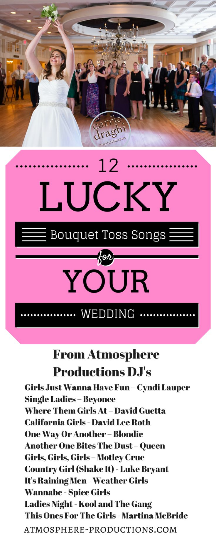 12 Lucky Bouquet Toss Songs For Your Wedding