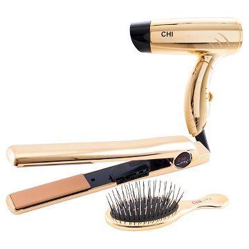 CHI Air®Classic Flat Iron Bright Gold Gift Set 1