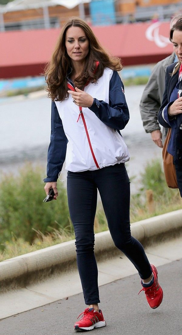Kate Middleton was spotted cheering on Great Britain's rowing team during the 2012 Paralympics Games in London
