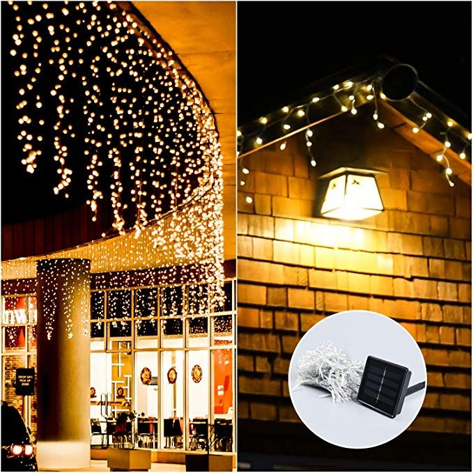 Decox 300 Led Waterproof Solar Curtain Lights For Home Garden