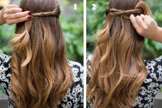 Lully: Brilho & Glamour: Penteados fáceis para o dia à dia...♥♥♥
