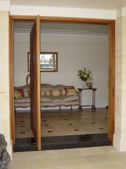 Charming Opened Door On Pivot Hinge