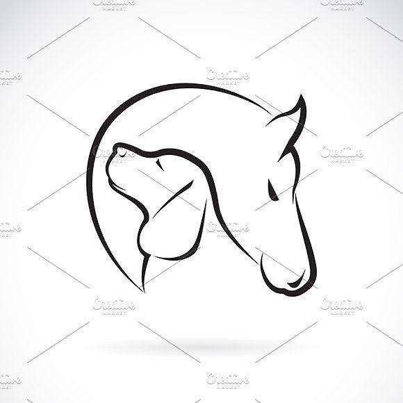 Vector de la imagen de caballo y perro por yod67 en Creative Market   – communication design