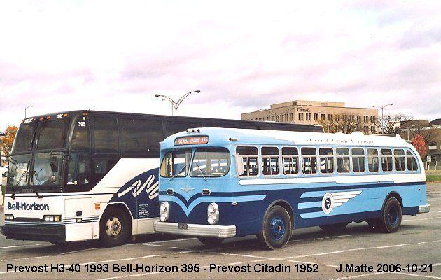 Bell Horizon Prevost buses