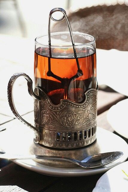 Russian Tea with Cherry Preserves, mmmm. YES.... This is how I remember Russian tea!