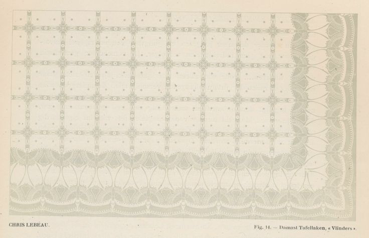 Chris Lebeau. Fig. 14 - Damast tafellaken Vinders