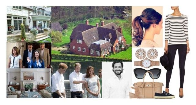 """Enjoying the Day at the Middleton Family Home in Bucklebury & Having A Barbecue In the Rare Sunny April Weather With the Middletons, William, Kate, Harry, and Carl-Philip"" by louiseingrid-ofdenmark ❤ liked on Polyvore featuring Dolce&Gabbana, Iris & Ink, Mulberry, Superga, Tiffany & Co., Gianvito Rossi and Emporio Armani"