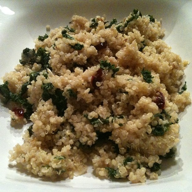 Warm Kale and Quinoa Salad by @vegankind from our January VegCookbok ...