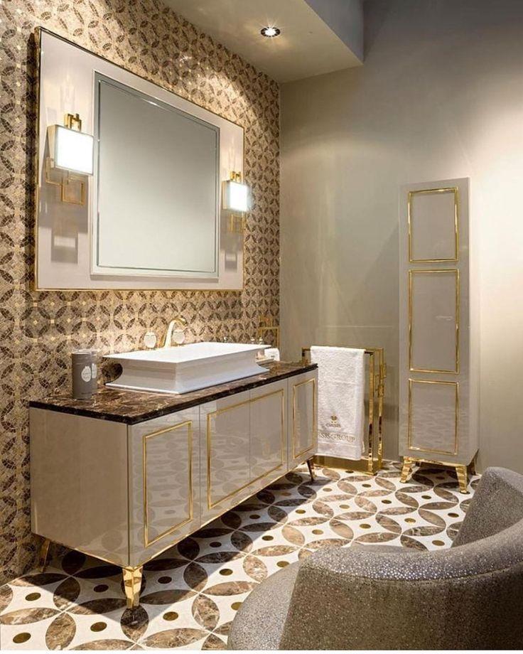 Neo Klasik: Veee Sizlere Neo Klasik Bir Tarzda Banyo Dekoru😊 Genelde