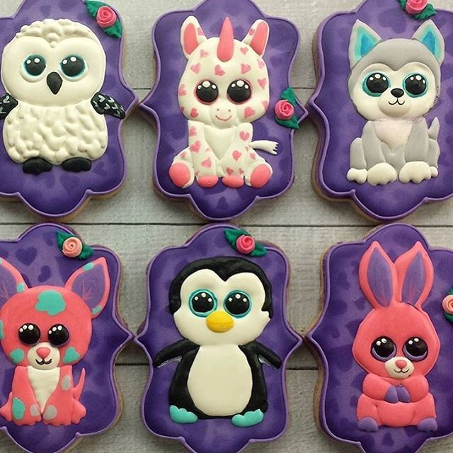 We love cookies, especially when they are as cute as these ones from @cookiology!  #fanfeature #cookies #beanieboos #tyinc