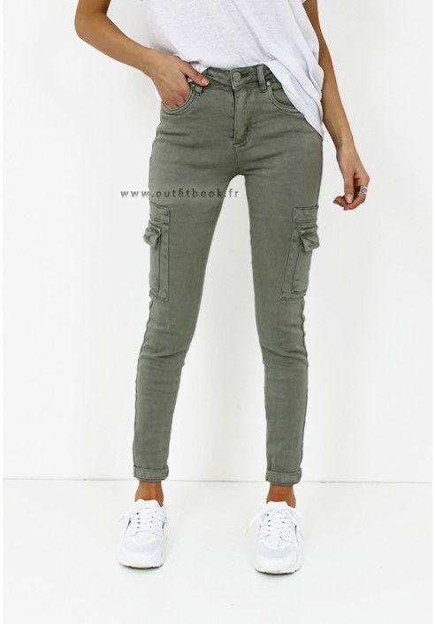 Pantalon kaki avec poches