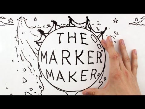 Marker/White Board w/ hand interaction Stop Motion | Whiteboard Animation: The Marker Maker - YouTube