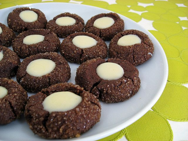 chocolate mint thumbprints by Elly Says Opa, via Flickr
