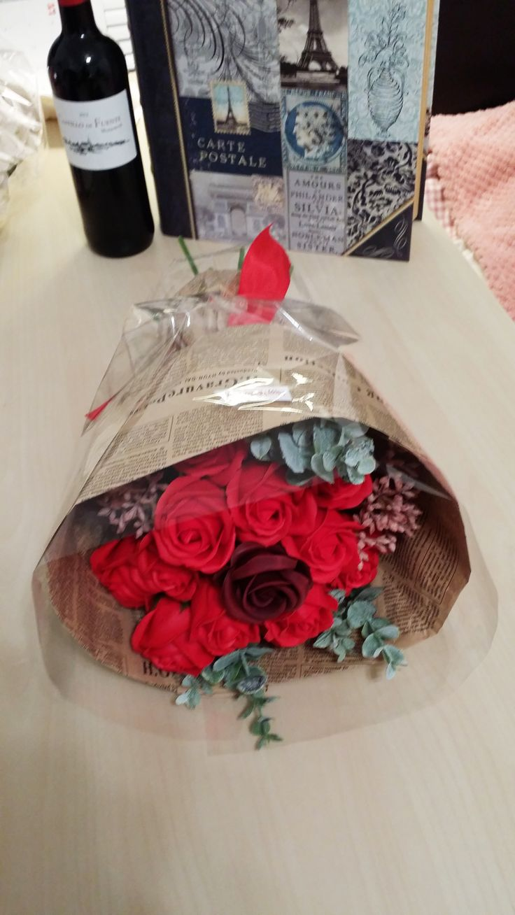"""- dozen roses soap flowers assorted color flowers. - Measures appoximately 14""""(36cm) Length - Includes at least 1 different Bushes and Bushes will vary - ITEM # : M1626 - Price : $70 - Delivery : fee not included email us for detail of delivery #www.keziaherez.com #Order keziaherez@gmail.com #mother's day gift #happybirthday gift #valentinesday gift #soapflower #love #flower stagram #flower"""