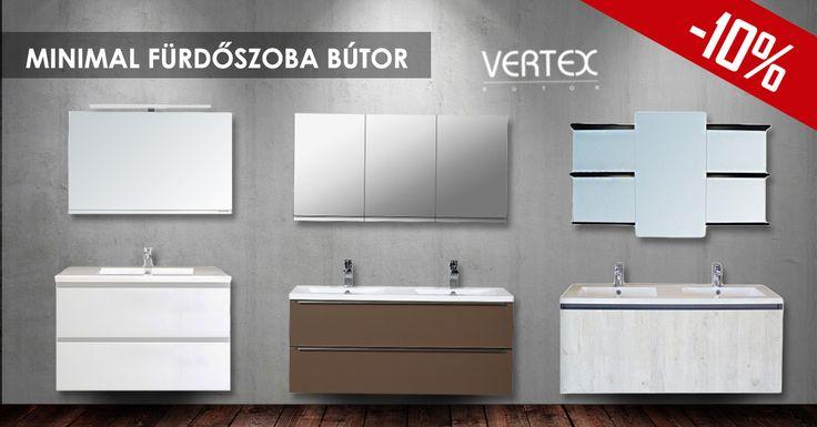 Minden Vertex Minimal Moda fürdőszoba bútorunk most akciós áron kapható. Ne hagyd ki te se 😉