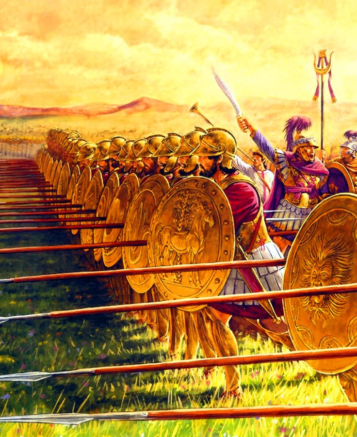 Sacred Band of Carthage marching into battle