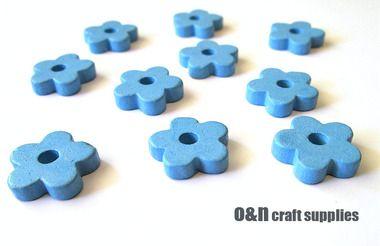 Flower #greek #ceramic #beads, blue beads (8) #jewelrysupplies #diyjewelry #jewelrymaking