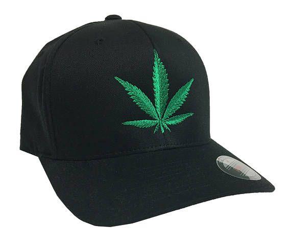 Green Marijuana Flexfit Structured Twill Cap