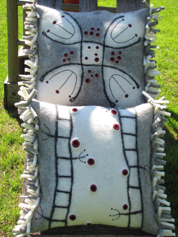 Felted pillow/ vilditud padjakatted #pillow #felt #felting