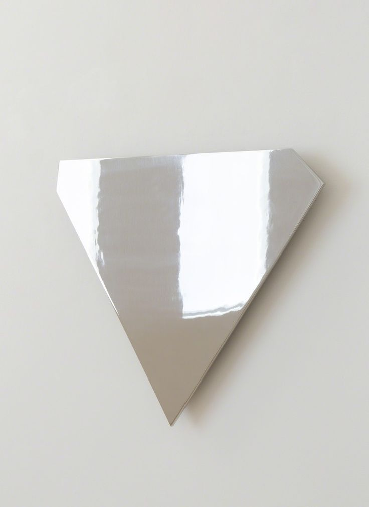 Ellsworth Kelly, Untitled, 1986, Polished stainless steel 30 × 24 3/4 × 3/8 in 76.2 × 62.9 × 1 cm