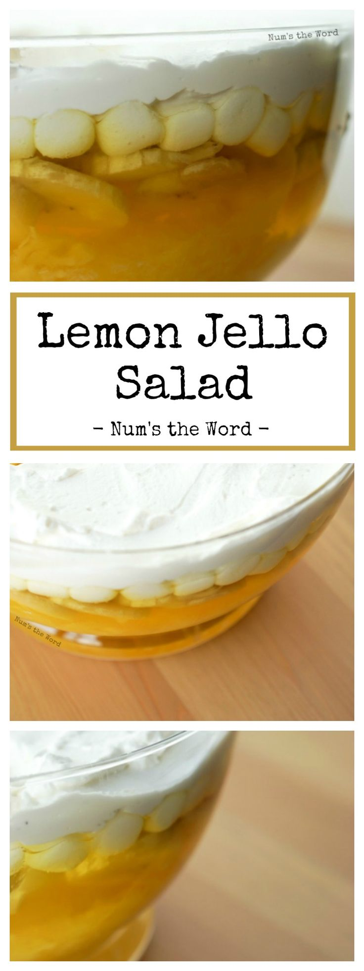 Lemon Jello Salad is a simple side dish that goes great with any meal. Loved by kids and adults alike, it's creamy, smooth and packed with bananas and pineapple!