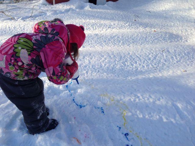 #peinture #neige #enfant #activité