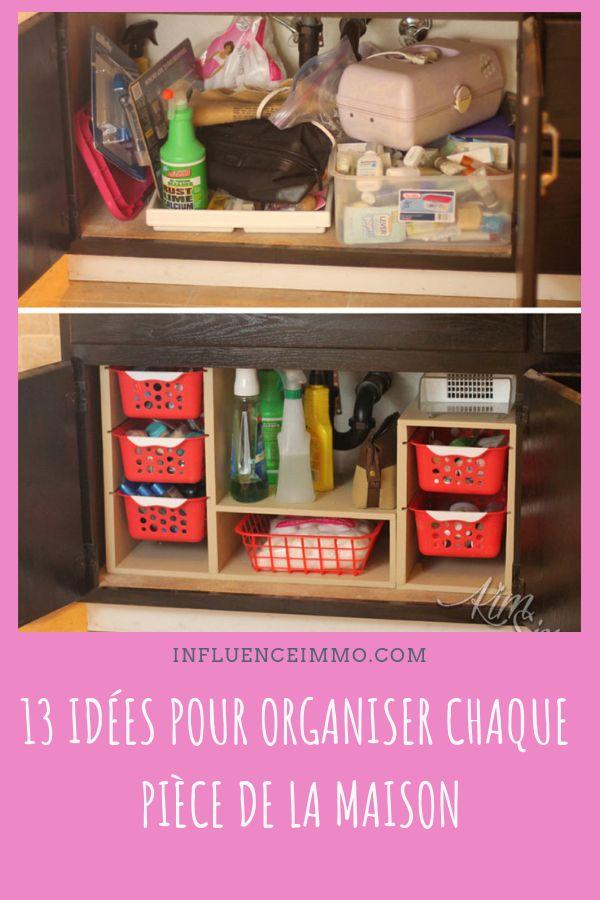 13 idées d'organisation pour chaque secteur dans votre maison   Rangement maison, Rangement sous ...