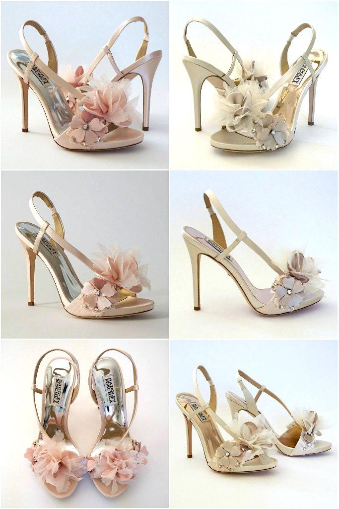 Flirty Flowers Meet Forever By Badgley Mischka Wedding Shoes Bridal Shoes With A Slight Platform An Designer Wedding Shoes Elegant Wedding Shoes Bridal Shoes