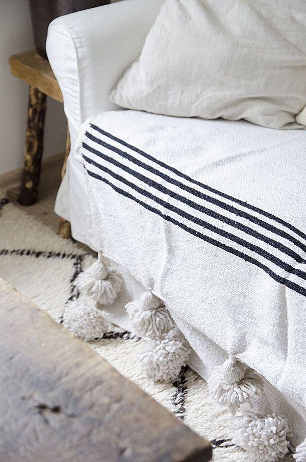 Pompom Blanket from Marrakech