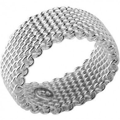ANEL TRABALHADO - Anel trabalhado maleável. Inspirado nas joias Tiffany. Tamanho: 0,9cm de largura. Joia com banho de Prata 925. Valor R$ 52,00