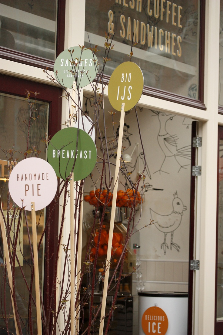 Unique outside store #signage in #amsterdam #graphicdesign