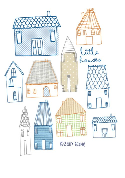 Illustration Houses-vanillatitch2014                                                                                                                                                                                 More