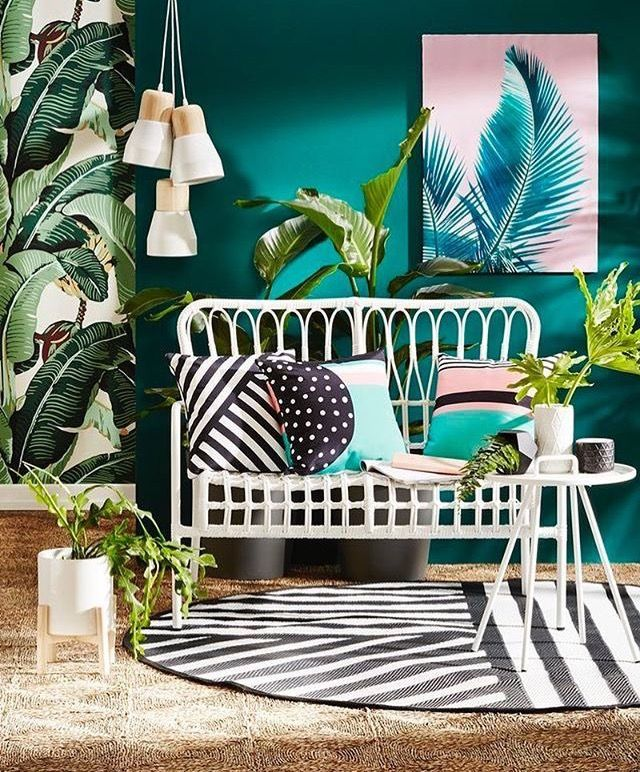 Teal Tropical Style Living Room Teal And Black In 2020 Tropical Home Decor Home Decor Decor #teal #and #black #living #room #ideas