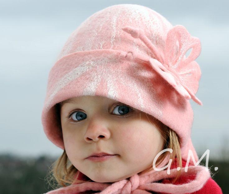 Hat .Girls hat . Nuno Felted Children's Hat