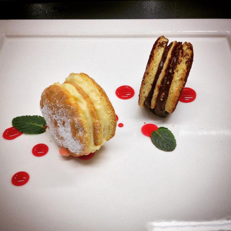 Yo - Yo alla Zuppa Inglese : sponge cake with chantilly and chocolate cream , Alchermes reduction | #touchflorence | www.touchflorence.com