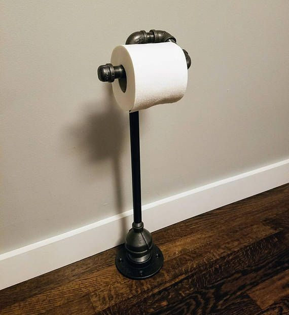 Industrial Toilet Paper Holder Free Standing Industrial Decor