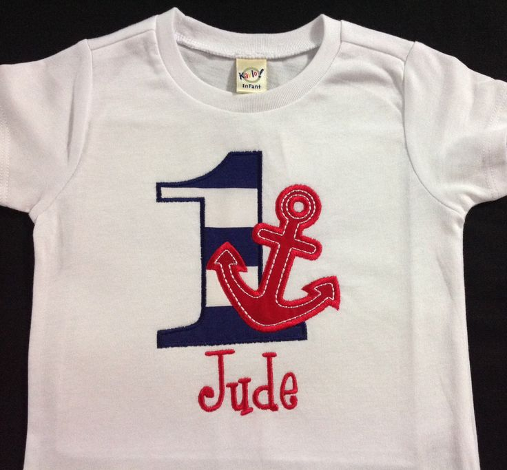 Embroidered Nautical Birthday Shirt Personalized Nautical Shirt Boy Nautical Birthday Shirt Boys Birthday Shirt  ANY AGE by SprinklesOfLove on Etsy https://www.etsy.com/listing/247493965/embroidered-nautical-birthday-shirt