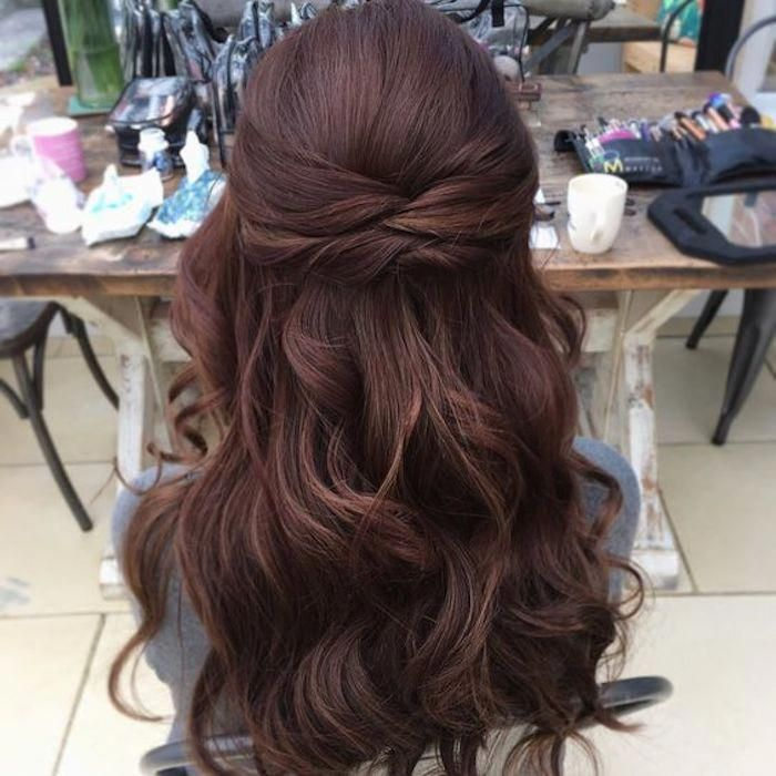 10 Glamorous Half Up Half Down Wedding Hairstyles From: 37 Beautiful Half Up Half Down Hairstyles_twisted Hair 7