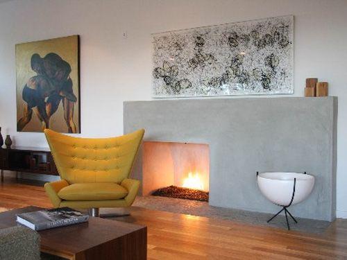 #fireplace #modern #midcentury
