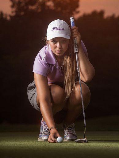 Senior Portrait / Photo / Picture Idea - Golf / Golfer / Golfing - Girls