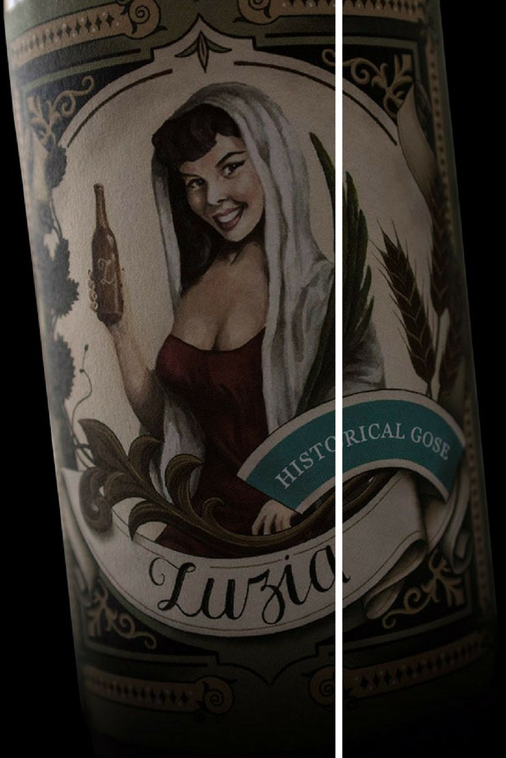 "'Luzia' craft beer has its origins in Bairrada, Aveiro. The different beer styles crafted with small changes in the ingredients remind us that details are important. This label design celebrates the Lady ""Luzia"" and the beauty of details."