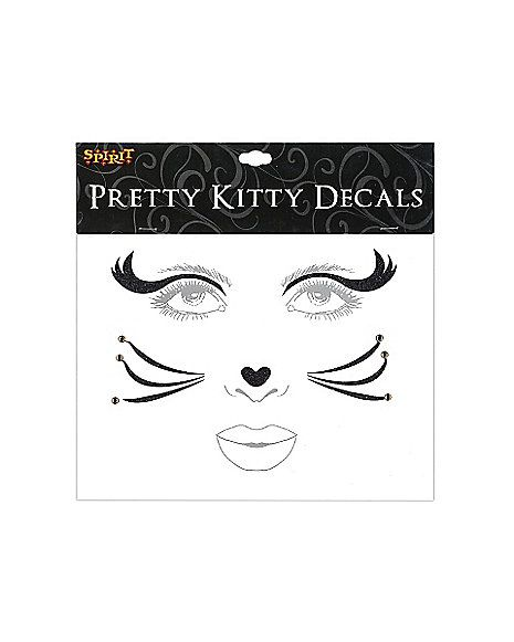 Black Cat Face Decal - Spirithalloween.com