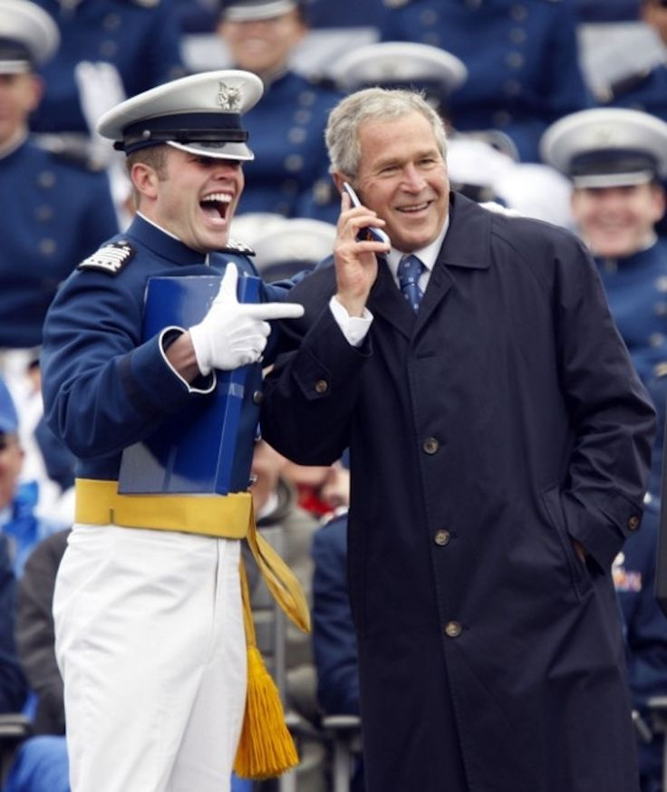 How to Thank a Soldier, by George W Bush  I seriously cried. Make sure you listen to the music they have available at the top of the screen as you look at it. God bless the USA!
